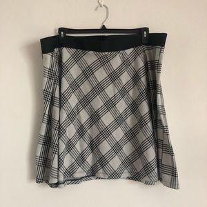 Plaid Skater Skirt -Plus Size